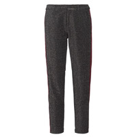 Vêtements Femme Pantalons 5 poches Maison Scotch TAPERED LUREX PANTS WITH VELVET SIDE PANEL Gris