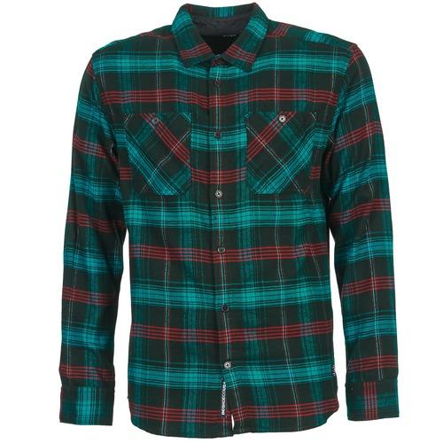 Vêtements Homme Chemises manches longues DC Shoes VIBRATION Noir / Bleu / Rouge