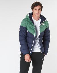 Vêtements Homme Doudounes Nike M NSW DWN FILL WR JKT HD Marine / Vert