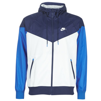 Vêtements Homme Coupes vent Nike M NSW HE WR JKT HD Bleu / Blanc
