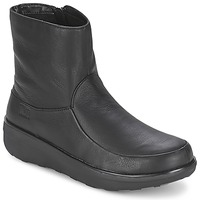 Chaussures Femme Bottines FitFlop LOAFF SHORTY ZIP BOOT Noir