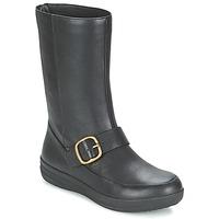 Chaussures Femme Boots FitFlop FF-LUX BIKER Noir