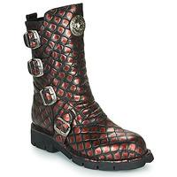Chaussures Femme Boots New Rock  Noir/Rouge