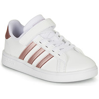Chaussures Fille Baskets basses adidas Originals GRAND COURT C Blanc