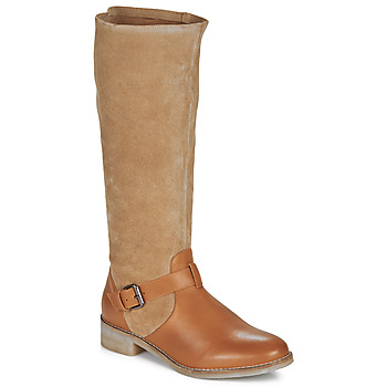 Chaussures Femme Bottes ville André ELIA Camel