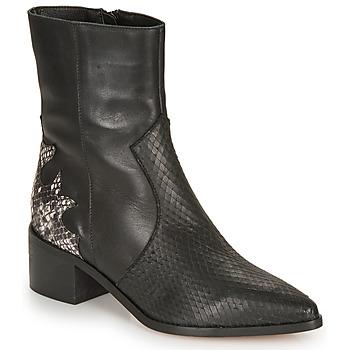 Chaussures Femme Bottines André LA ROCKABILLY Noir