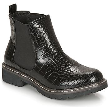 Chaussures Femme Boots André NOVA Noir motif