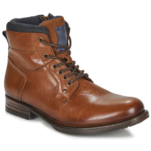 Chaussures Homme Boots André CLABA Cognac
