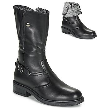 Chaussures Fille Boots André MOSCOU Noir