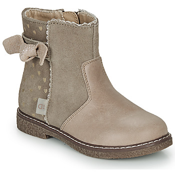 Chaussures Fille Boots André MYA Beige