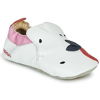 Chaussures Fille Chaussons Catimini CIRINI Blanc / Rose