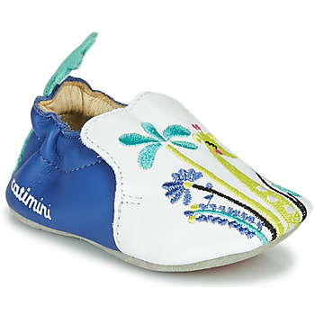 Chaussures Fille Chaussons Catimini COLIMA Blanc / Bleu