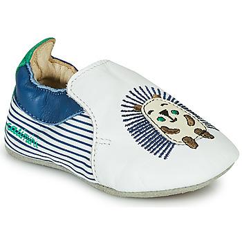 Chaussures Garçon Chaussons Catimini COFFI Blanc / Bleu / Vert