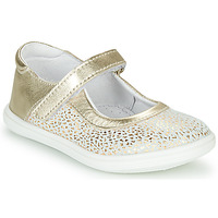 Chaussures Fille Ballerines / babies GBB PLACIDA Blanc / Doré