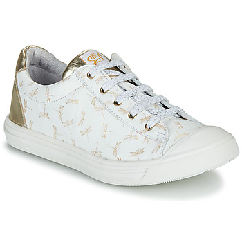 Chaussures Fille Baskets basses GBB MATIA Blanc / doré