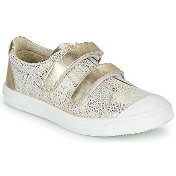 Chaussures Fille Baskets basses GBB NOELLA Blanc / Doré