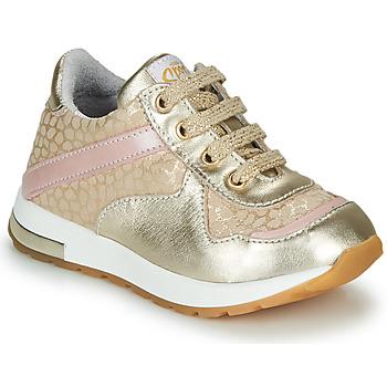 Chaussures Fille Baskets basses GBB LELIA Beige / Doré