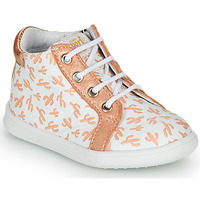 Chaussures Fille Baskets montantes GBB FAMIA Blanc / Rose gold