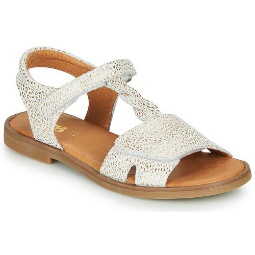 Chaussures Fille Sandales et Nu-pieds GBB FARENA Blanc / Doré