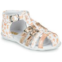 Chaussures Fille Sandales et Nu-pieds GBB RIVIERA Blanc / Rose