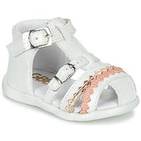 Chaussures Fille Sandales et Nu-pieds GBB ALIDA Blanc
