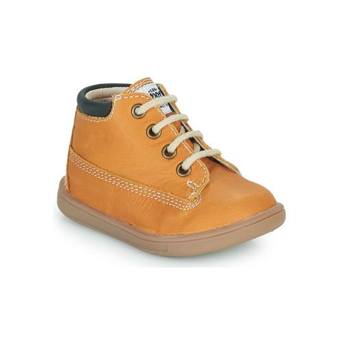 Chaussures Garçon Baskets montantes GBB NORMAN Cognac
