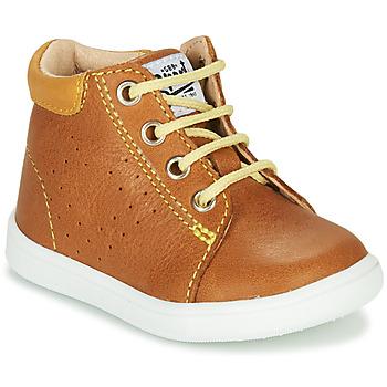 Chaussures Garçon Baskets montantes GBB FOLLIO Cognac