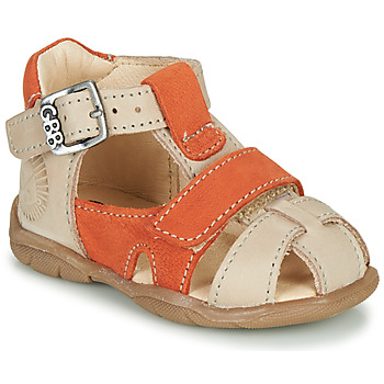 Chaussures Garçon Sandales et Nu-pieds GBB SEROLO Beige / Orange