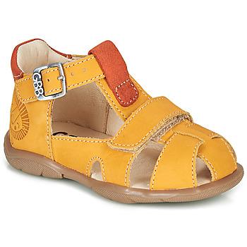 Chaussures Garçon Sandales et Nu-pieds GBB SEROLO Jaune / Orange