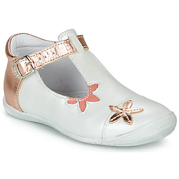 Chaussures Fille Ballerines / babies GBB ANAXI Blanc / Rose gold