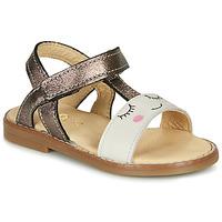 Chaussures Fille Sandales et Nu-pieds GBB NAZETTE Beige / Bronze