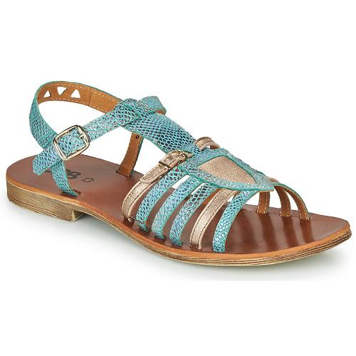 Chaussures Fille Sandales et Nu-pieds GBB FANNI Bleu / Doré