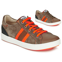 Chaussures Garçon Baskets basses GBB ANTENO Marron / Orange