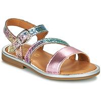 Chaussures Fille Sandales et Nu-pieds GBB FANA Rose / Multicolore