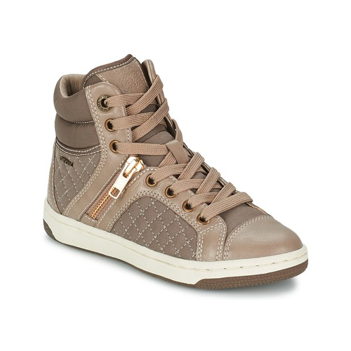 Chaussures Fille Baskets montantes Geox CREAMY G Taupe