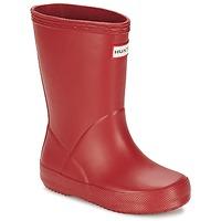 Chaussures Enfant Bottes de pluie Hunter KIDS FIRST CLASSIC GLOSS Rouge