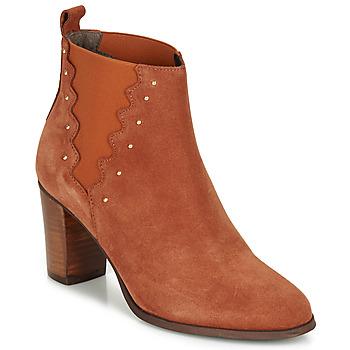 Chaussures Femme Bottines André NORINE Orange