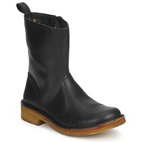Chaussures Femme Bottines Swedish hasbeens DANISH BOOT Noir