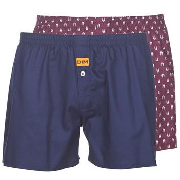 Sous-vêtements Homme Caleçons DIM BOXER FLOTTANT x2 Marine / Bordeau