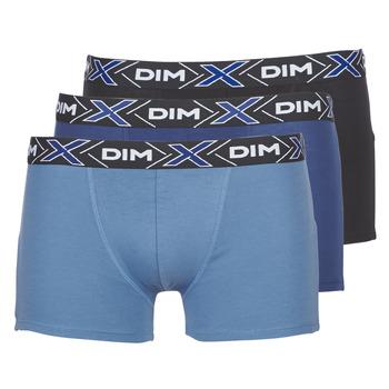 Sous-vêtements Homme Boxers DIM X-TEMP BOXER x3 Bleu / Marine / Noir
