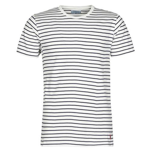 Vêtements Homme T-shirts manches courtes Casual Attitude KINO Marine / Blanc