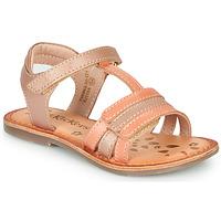 Chaussures Fille Sandales et Nu-pieds Kickers DIAMANTO Rose / Orange