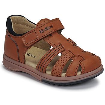 Chaussures Garçon Sandales et Nu-pieds Kickers PLATIBACK Marron