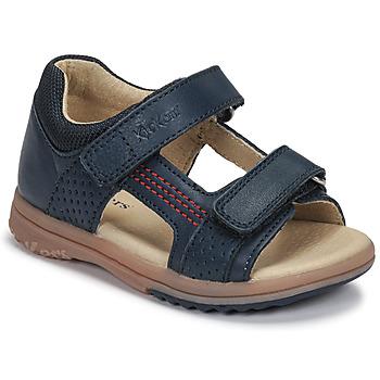 Chaussures Garçon Sandales et Nu-pieds Kickers PLAZABI Marine