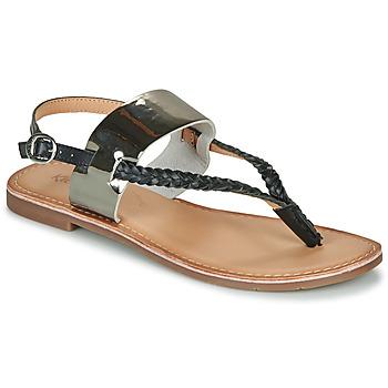 Chaussures Femme Sandales et Nu-pieds Kickers ESTHERA Noir / Argenté