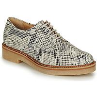 Chaussures Femme Derbies Kickers OXFORK Blanc / Noir / Python