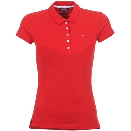 Vêtements Femme Polos manches courtes Tommy Hilfiger NEW CHIARA Rouge