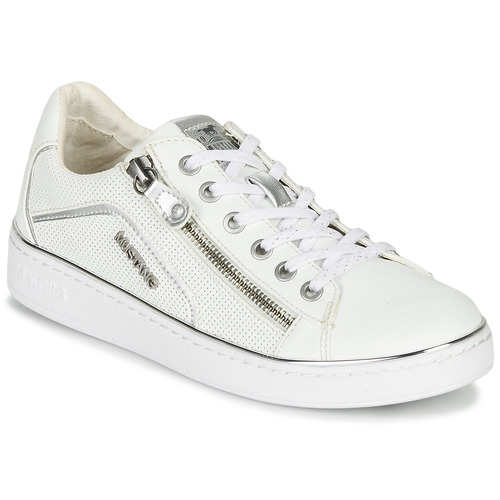 Chaussures Femme Baskets basses Mustang MIMIRA Blanc / Argent