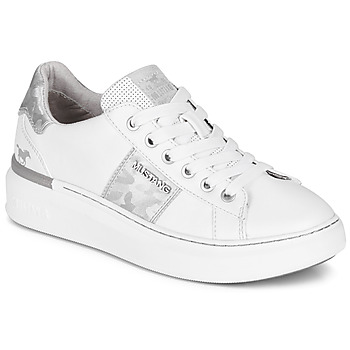 Chaussures Femme Baskets basses Mustang 1351304-121 Blanc / Argent