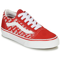 Chaussures Enfant Baskets basses Vans OLD SKOOL Rouge / Blanc